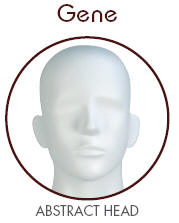Gene Abstract Head Male Mannequin