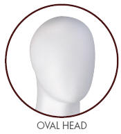 Gene Male Mannequin Oval Head with no facial features
