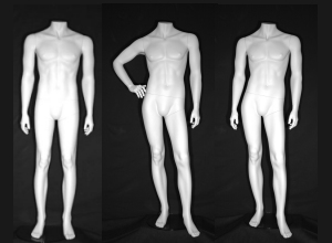 Rudy Headless Male Mannequin in Cameo White